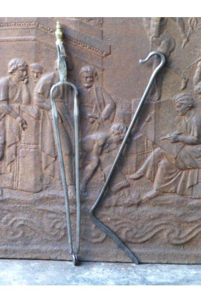 Antieke Nederlandse Haardset van 32,33