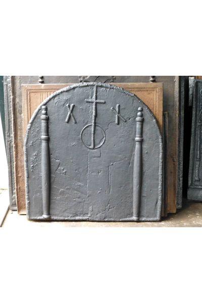 Haardplaat 'Gotisch Wapen' van 14