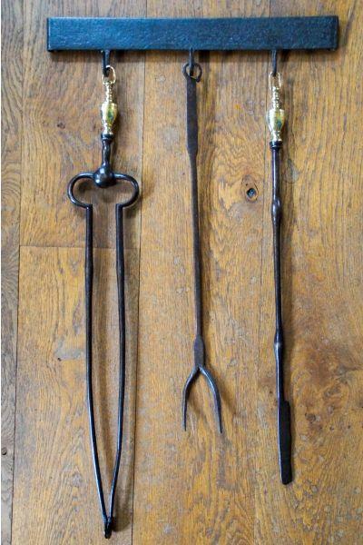 Antieke Nederlandse Haardset van 15,33