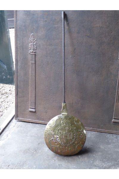 Antieke stoof - bedkruik - beddenpan (koper) van 15,16