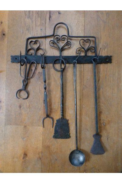 Antieke Nederlandse Haardset van 15