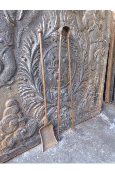 Antieke Franse Haardset van 15