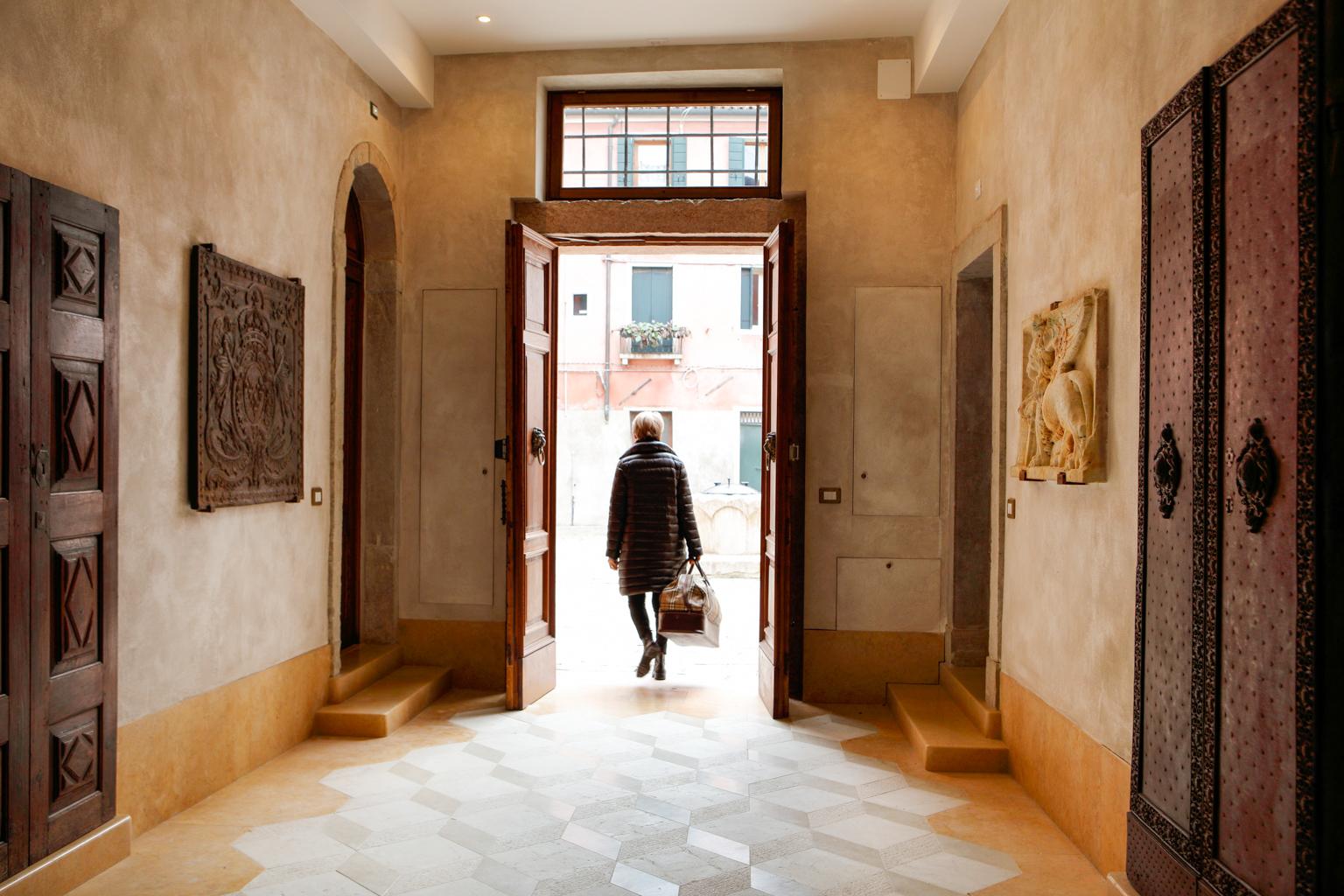 Haardplaten als Decoratie in Venetië