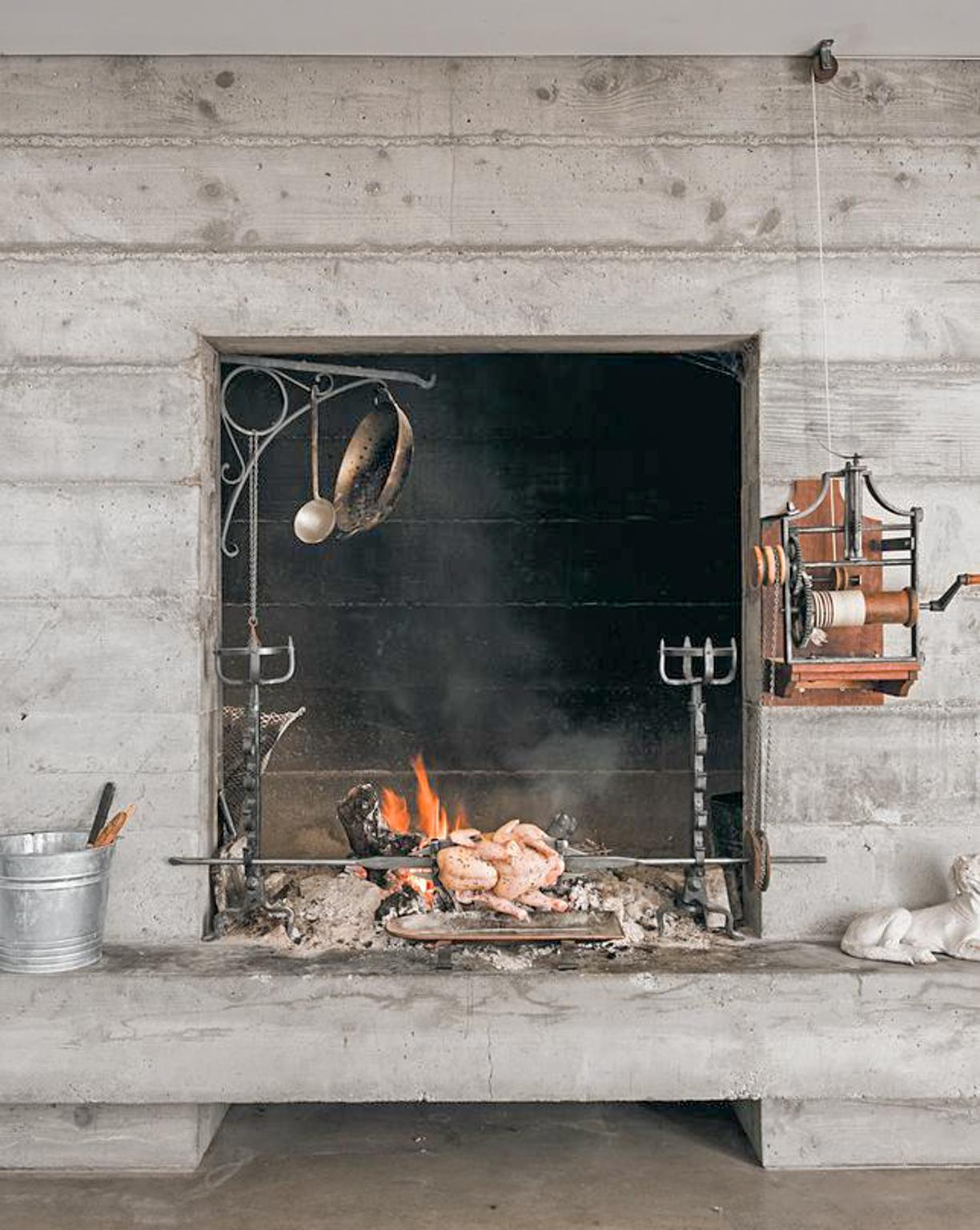 Koken in de open haard