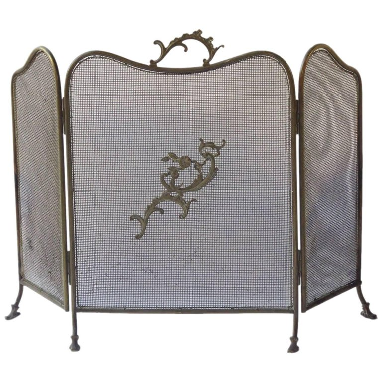 19e eeuws Napoleon III haardscherm
