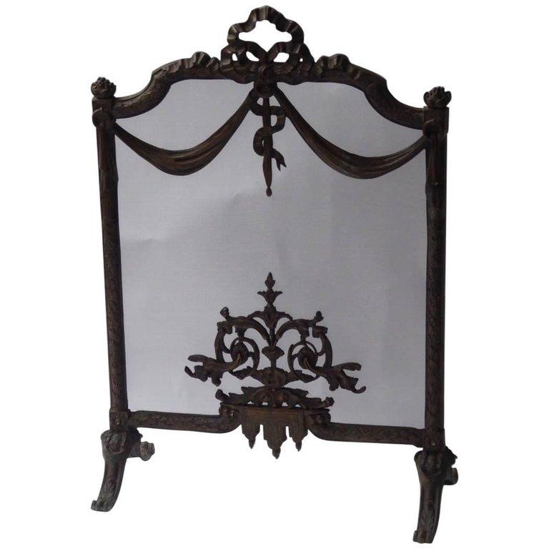 19e eeuws Art Nouveau haardscherm