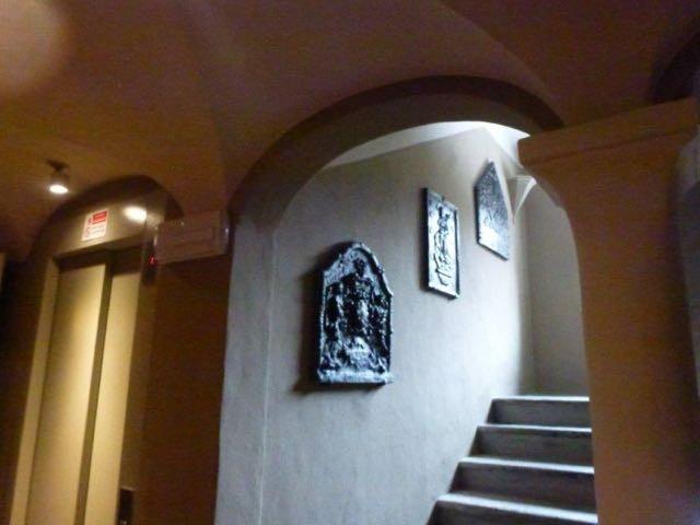 Haardplaat als decoratie  in Hotel Miramonti