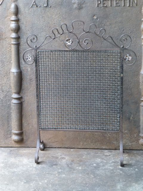 Art nouveau haardscherm